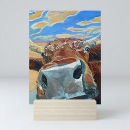 The Boy Down the Street Cow Portrait Mini Art Print