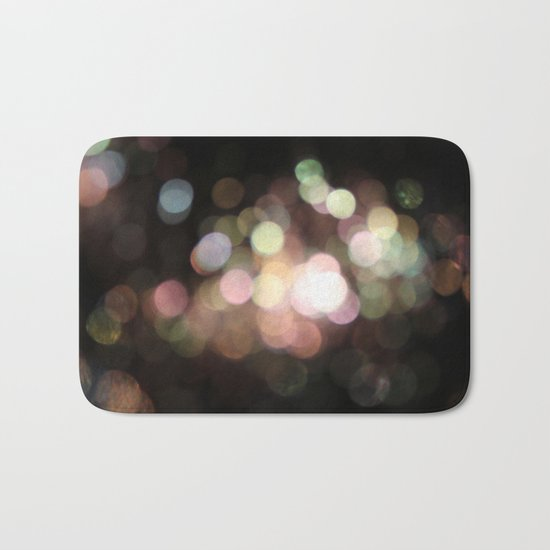 Bubbly Bokeh Bath Mat