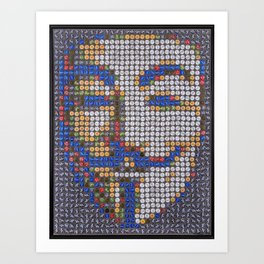 Guy Fawkes Art Print