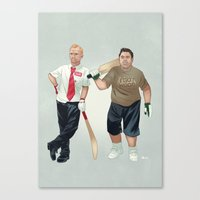 shaun of the dead Canvas Prints featuring Shaun of the Dead by Dave Collinson
