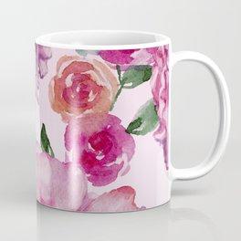 Pink on Pink Spring Roses Coffee Mug