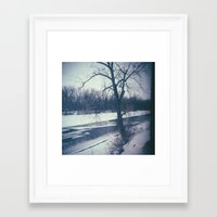 indiana Framed Art Prints featuring Indiana by Mt Zion Press