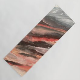 Moving Mountains: an abstract mixed media piece in contrasting pinks, purples, blues, and whites Yoga Mat