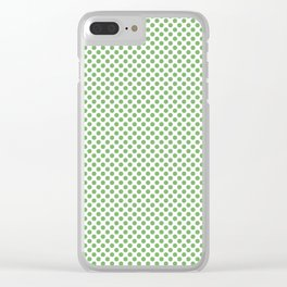 Grass Green Polka Dots Clear iPhone Case