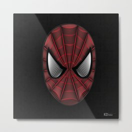 Spider Man Line Art By Kaydesign Metal Print