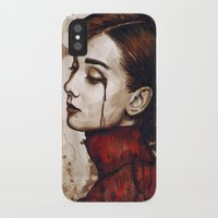 audrey iPhone & iPod Cases featuring Audrey  by Olechka
