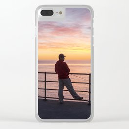 Watching Fishing Texting Clear iPhone Case