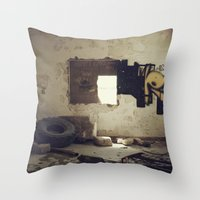 misfits Throw Pillows featuring Misfits by nonbeliever_