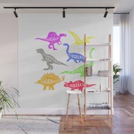 Dinosaur Set for Men Women Toddler Boys & Girl Tshirt Gift T-Shirt Wall Mural