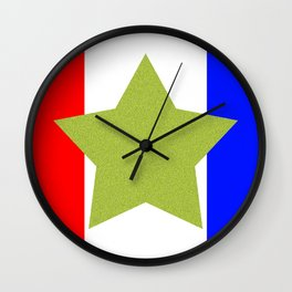 Design4 Red White and Blue Wall Clock