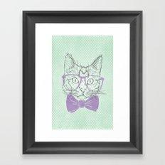 Hipster Kitten Framed Art Print