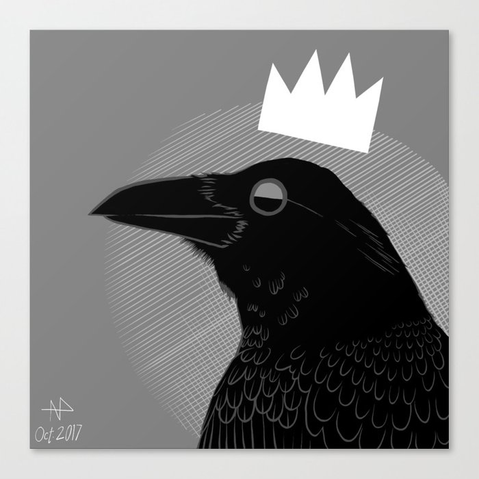 King of Crows Canvas Print