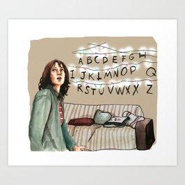 StrangerThings Winona Lights Illustration fan art Art Print
