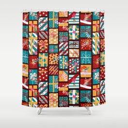 Christmas Presents Pattern Shower Curtain