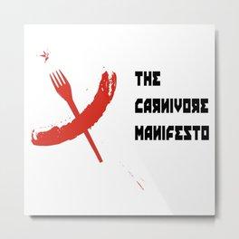 carnivore manifesto - the cccp cookbook Metal Print