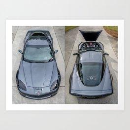 Batvette Side-by-Side Art Print