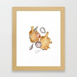 cookware print Framed Art Print