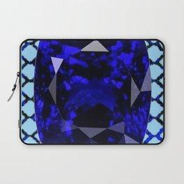 BLUE  SAPPHIRE DECEMBER GEM BIRTHSTONE MODERN ART Laptop Sleeve