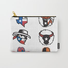 Texas Outlaw Mascot Collection Carry-All Pouch