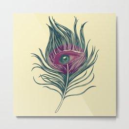 Feather in my eye Metal Print