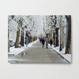 Neve mattutina Metal Print