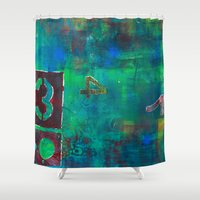 oasis Shower Curtains featuring Oasis by Cifertherhyme