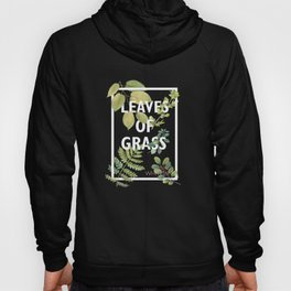 Leaves of Grass, Walt Whitman, book cover illustration, american poetry collection, flowers art Hoody
