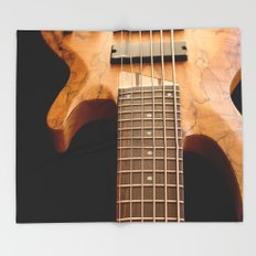 Music is a Moral Law ~ Bass Guitar Throw Blanket