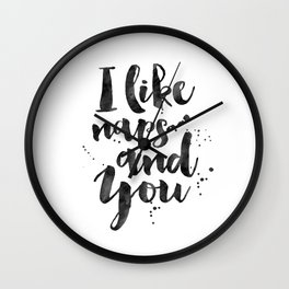 BEDROOM WALL DECOR, I Like Naps And You,Kids Room Decor,Bedroom Sign,Love Quote,Good Night Quote,Eng Wall Clock