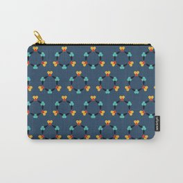 Kaleidoscope blue Carry-All Pouch
