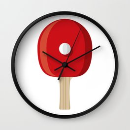 Table Tennis Racket and Ball Wall Clock