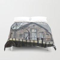 edinburgh Duvet Covers featuring Edinburgh castle by oxana zaika