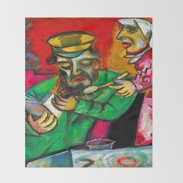 Marc Chagall Spoonful of Milk Throw Blanket