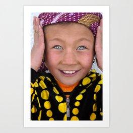 Kyrgyz girl, Pamir Art Print
