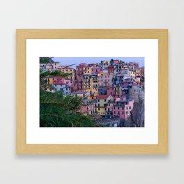Cinque Terre at Dusk Framed Art Print
