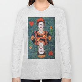 Frida, queen of Hearts Long Sleeve T-shirt