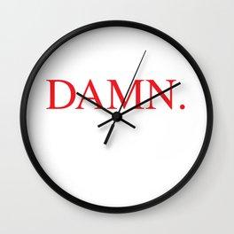 DAMN. Kendrick Lamar Wall Clock
