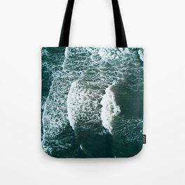Wavy Waves on a stormy day Tote Bag
