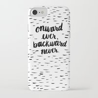 onward iPhone & iPod Cases featuring Onward Ever, Backward Never by Jenna Freimuth