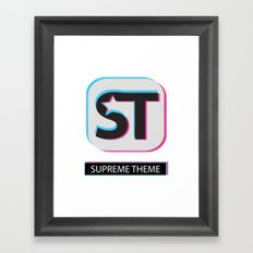 Supreme WordPress Theme Framed Art Print
