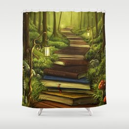 Path Book Knowledge Shower Curtain