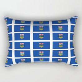 Flag of alberta -albertan,calgary,edmonton,athabasca,wild rose,berta,Louise. Rectangular Pillow