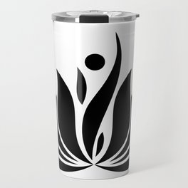 Black Logo Travel Mug