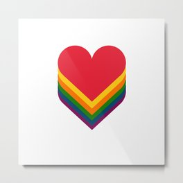 Heart rainbow Metal Print