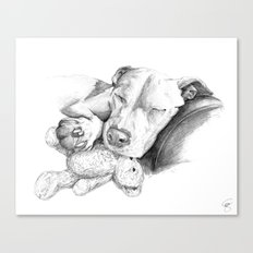 Let Sleeping Dogs Lie :: Grayscale Canvas Print