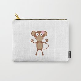 female monkey with flower Carry-All Pouch