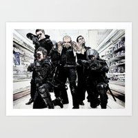 hot fuzz Art Prints featuring hot fuzz by American Artist