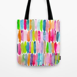 Colorful Dashes Tribal Tote Bag