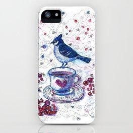 Winter Tea (Ble Jay) iPhone Case