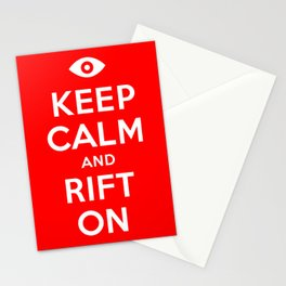 Keep Calm and Rift On Stationery Cards
